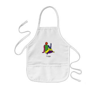 Painting - Half Lord of the Fishes & yoga text. Kids' Apron