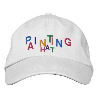 PAINTING HAT Cap White w/ Bright Lettering Colors