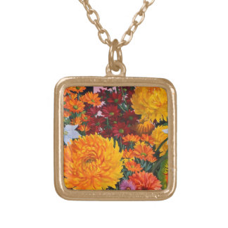 Painting in October 2005 Gold Plated Necklace