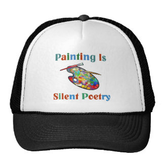 Painting is silent poetry Artist Hat