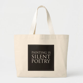 Painting Is Silent Poetry Tote Bags