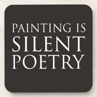 Painting Is Silent Poetry Beverage Coaster
