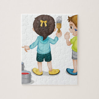 Painting kids jigsaw puzzle