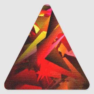 Painting:  Large Fractals RD Triangle Sticker