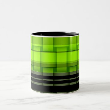 Coffee Themed Painting lime green wicker art graphic design Two-Tone coffee mug