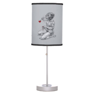 Painting Love Table Lamp