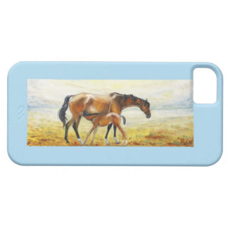 painting mare with foal iPhone SE/5/5s case