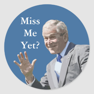 Painting-Miss Me Yet? Classic Round Sticker