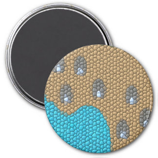 Painting mosaic 3 inch round magnet