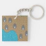 Painting mosaic acrylic keychains