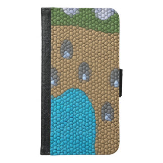 Painting mosaic wallet phone case for samsung galaxy s6