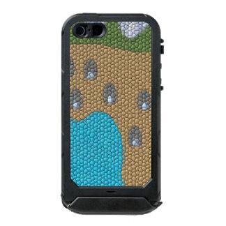 Painting mosaic waterproof iPhone SE/5/5s case