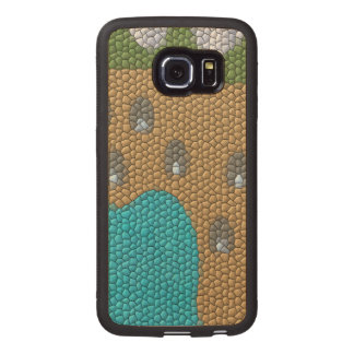 Painting mosaic wood phone case