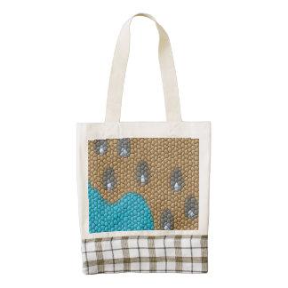 Painting mosaic zazzle HEART tote bag