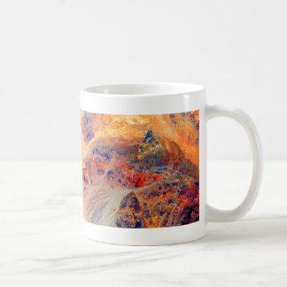 Painting: Mountains & Waterfall: Coffee Mug