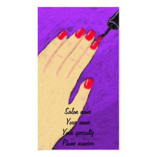 Painting Nails Nail Tech Business Card