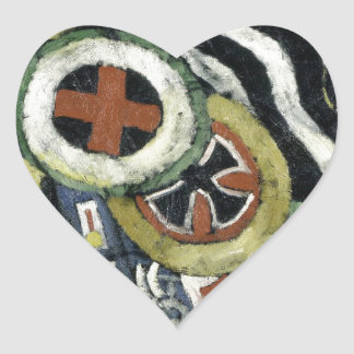 Painting, Number 5 by Marsden Hartley Heart Sticker