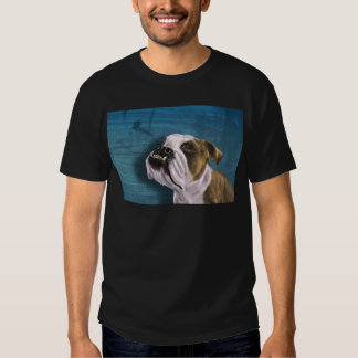 Painting of a Bulldog with Brown and White Coat T-Shirt