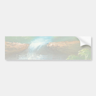 Painting Of A Creek In The Summer Bumper Sticker