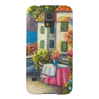 Painting Of A European Seaside Patio Galaxy S5 Cover