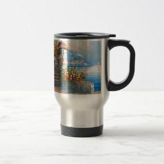 Painting Of A Fancy European Villa Travel Mug