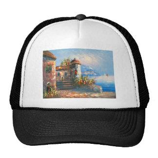 Painting Of A Fancy European Villa Trucker Hat