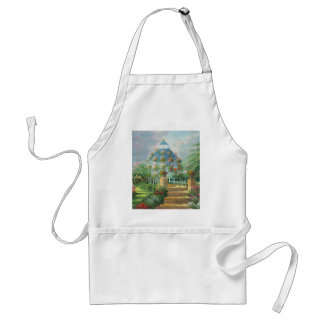 Painting Of A Flower Covered Gazebo In Summer Aprons