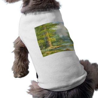 Painting Of A Forest With River Stamp Tee