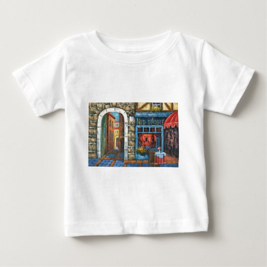 Painting Of A French Restaurant Baby T-Shirt