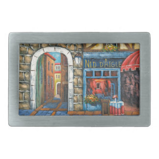 Painting Of A French Restaurant Belt Buckle