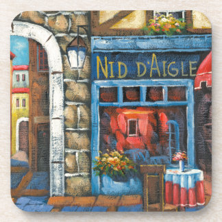 Painting Of A French Restaurant Drink Coaster