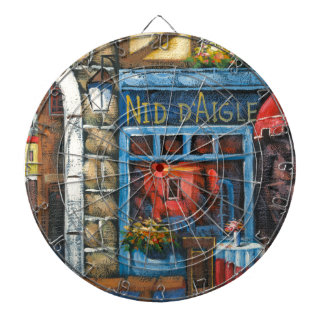 Painting Of A French Restaurant Dart Board