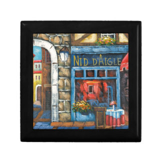 Painting Of A French Restaurant Gift Boxes