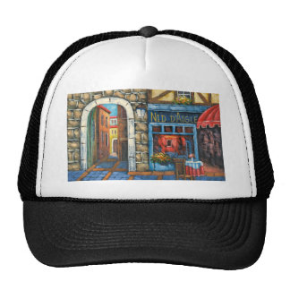 Painting Of A French Restaurant Mesh Hat