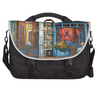 Painting Of A French Restaurant Bag For Laptop