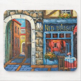Painting Of A French Restaurant Mouse Pad