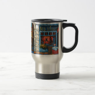 Painting Of A French Restaurant 15 Oz Stainless Steel Travel Mug