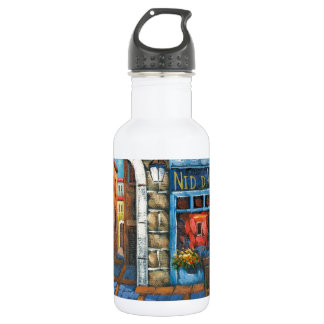 Painting Of A French Restaurant 18oz Water Bottle
