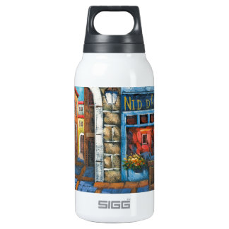 Painting Of A French Restaurant Thermos Bottle