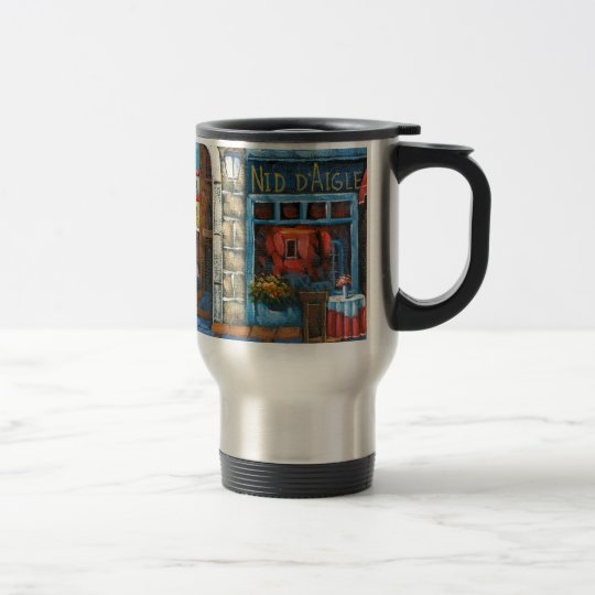 Painting Of A French Restaurant Travel Mug