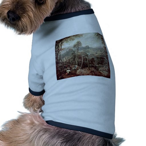 Painting Of A Gallow By Pieter Brueghel The Elder Dog Shirt