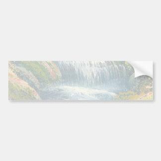 Painting Of A Mini Waterfall Bumper Sticker