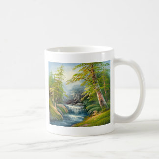 Painting Of A Mini Waterfall Coffee Mug