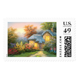 Painting Of A Private Cottage Postage