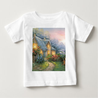 Painting Of A Rustic Fantasy Cottage Baby T-Shirt