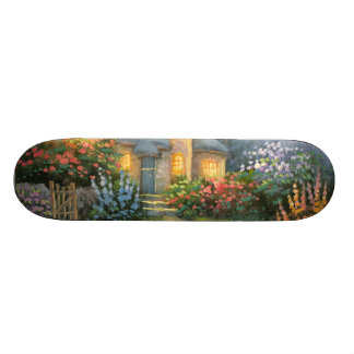 Painting Of A Rustic Fantasy Cottage Skate Boards