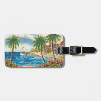 Painting Of A Sailboat In Hawaii Bag Tag