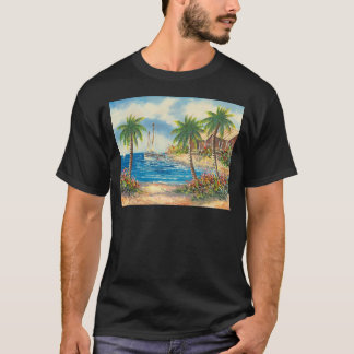 Painting Of A Sailboat In Hawaii T-Shirt