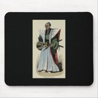 Painting of a Samurai, c. 1845-1847 Mousepads
