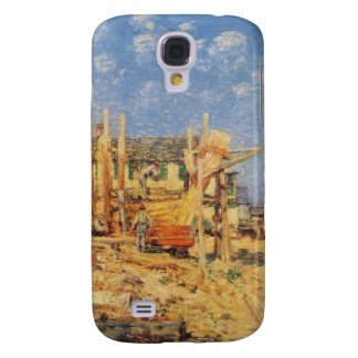 Painting of a Schooner being built in Provincetown Samsung S4 Case